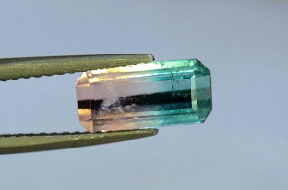 1.85 carats Untreated Bi Color Tourmaline Loose - 2