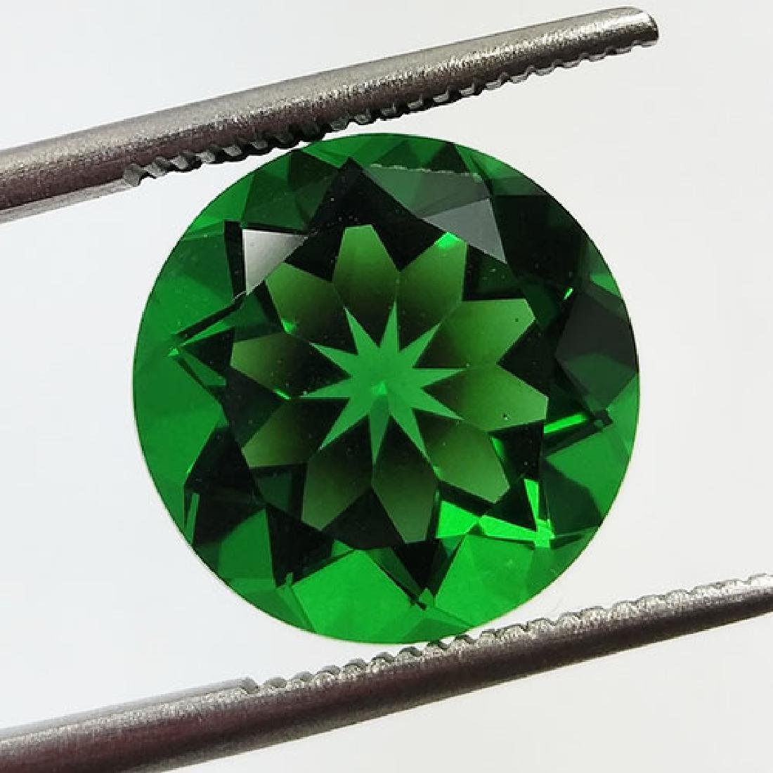 5.80CTS-SUPER-TOP-LUSTER-GREEN-NATURAL-MOLDAVITE-ROUND - 2