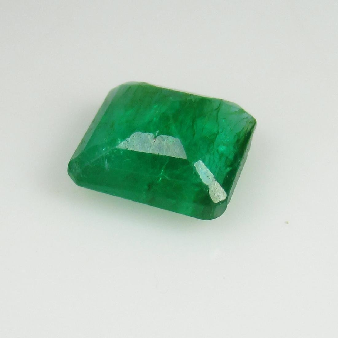 IGI Certified 2.90 Ct Genuine Zambian Emerald AAA++ - 5