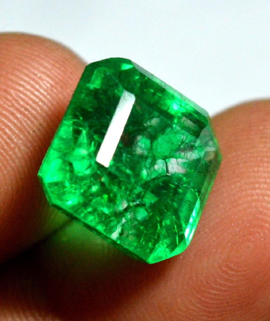 10.55 Ct Natural Green Emerald Colombian - 2
