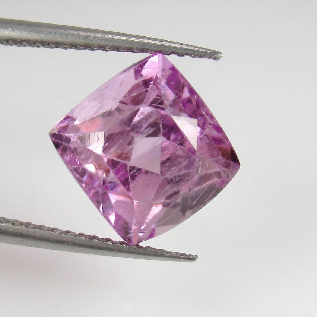 5.40 Ctw Natural Loose Sweet Pink Kunzite Cushion cut - 3