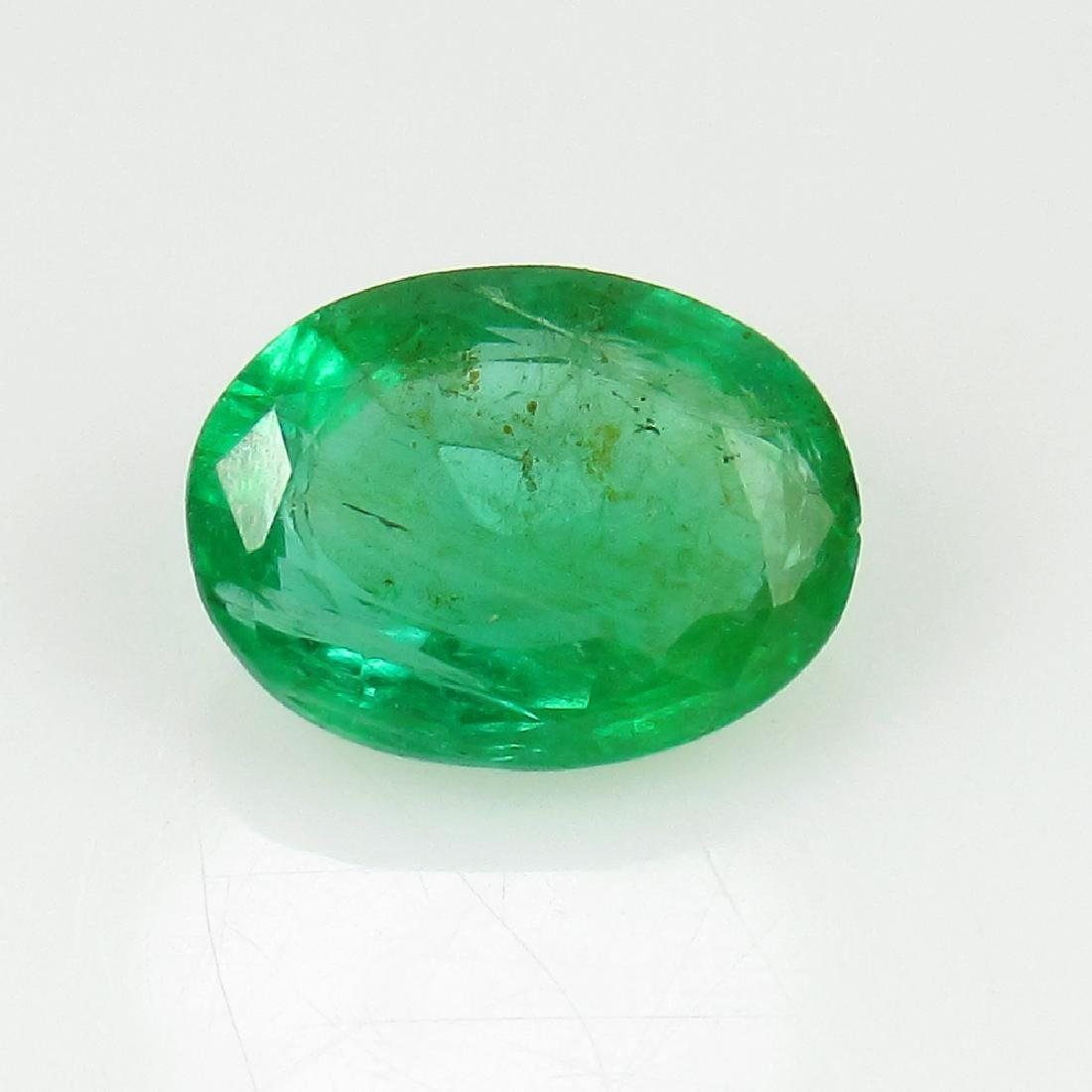 1.89 Ct IGI Certified Genuine Zambian Emerald Nice Oval