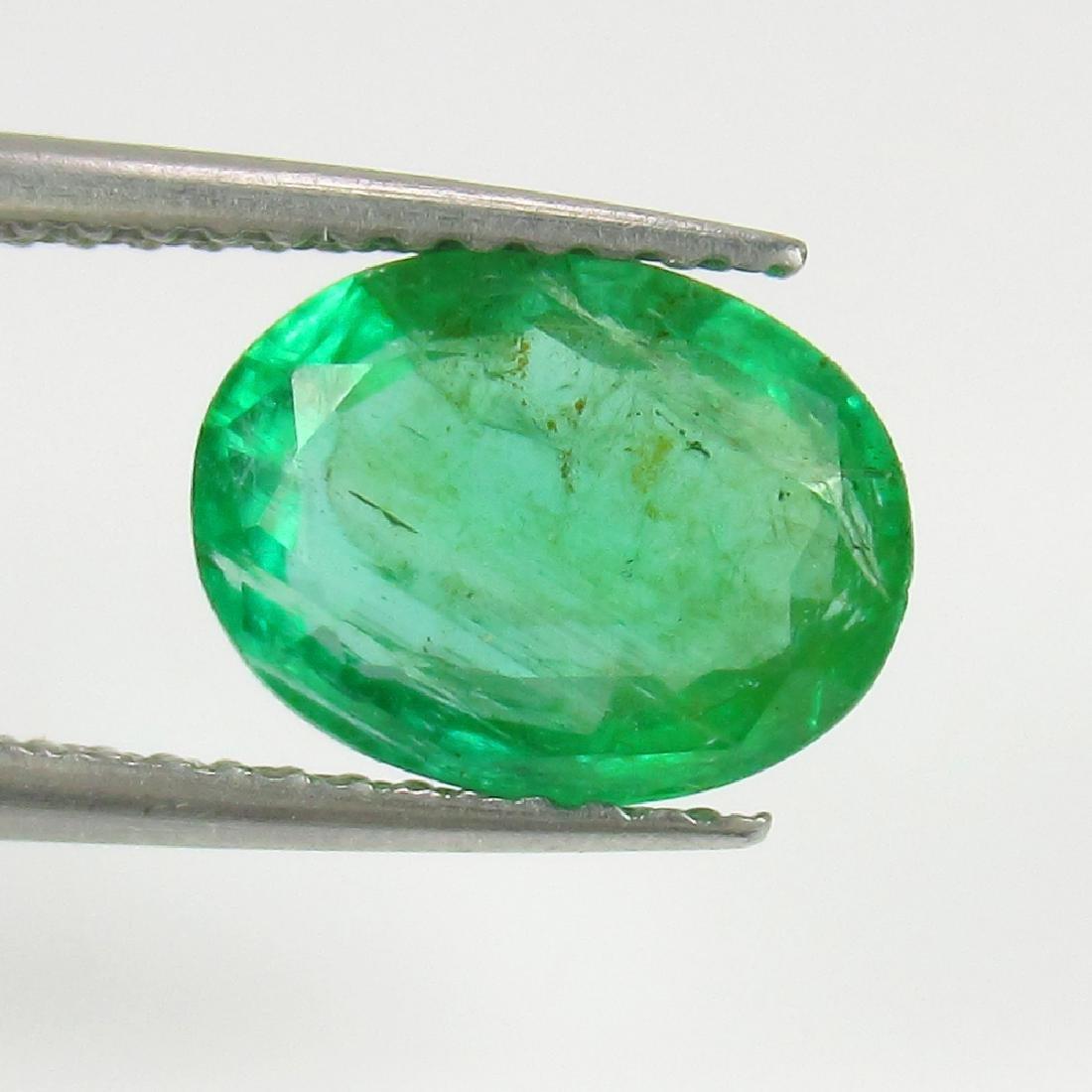 1.89 Ct IGI Certified Genuine Zambian Emerald Nice Oval - 3