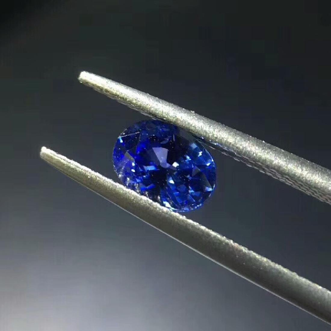 1.02 ct Sapphire 4.8*6.5*3.7 mm Oval Cut - 2