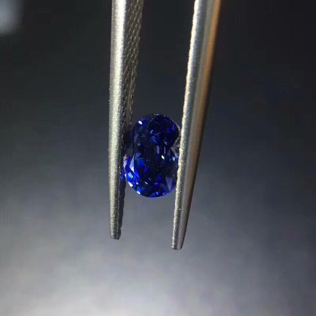 1.02 ct Sapphire 4.8*6.5*3.7 mm Oval Cut - 4