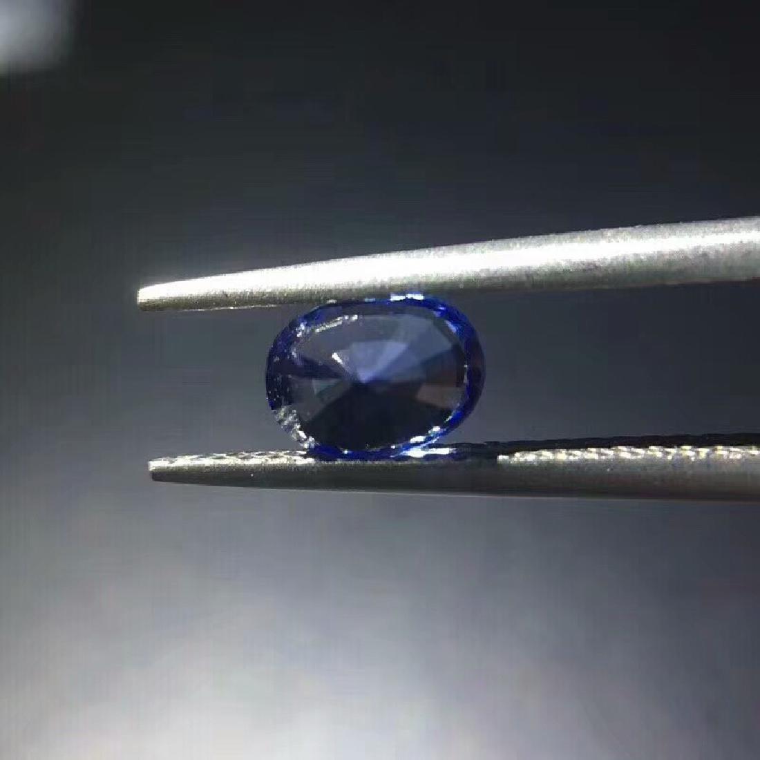 1.02 ct Sapphire 4.8*6.5*3.7 mm Oval Cut - 5