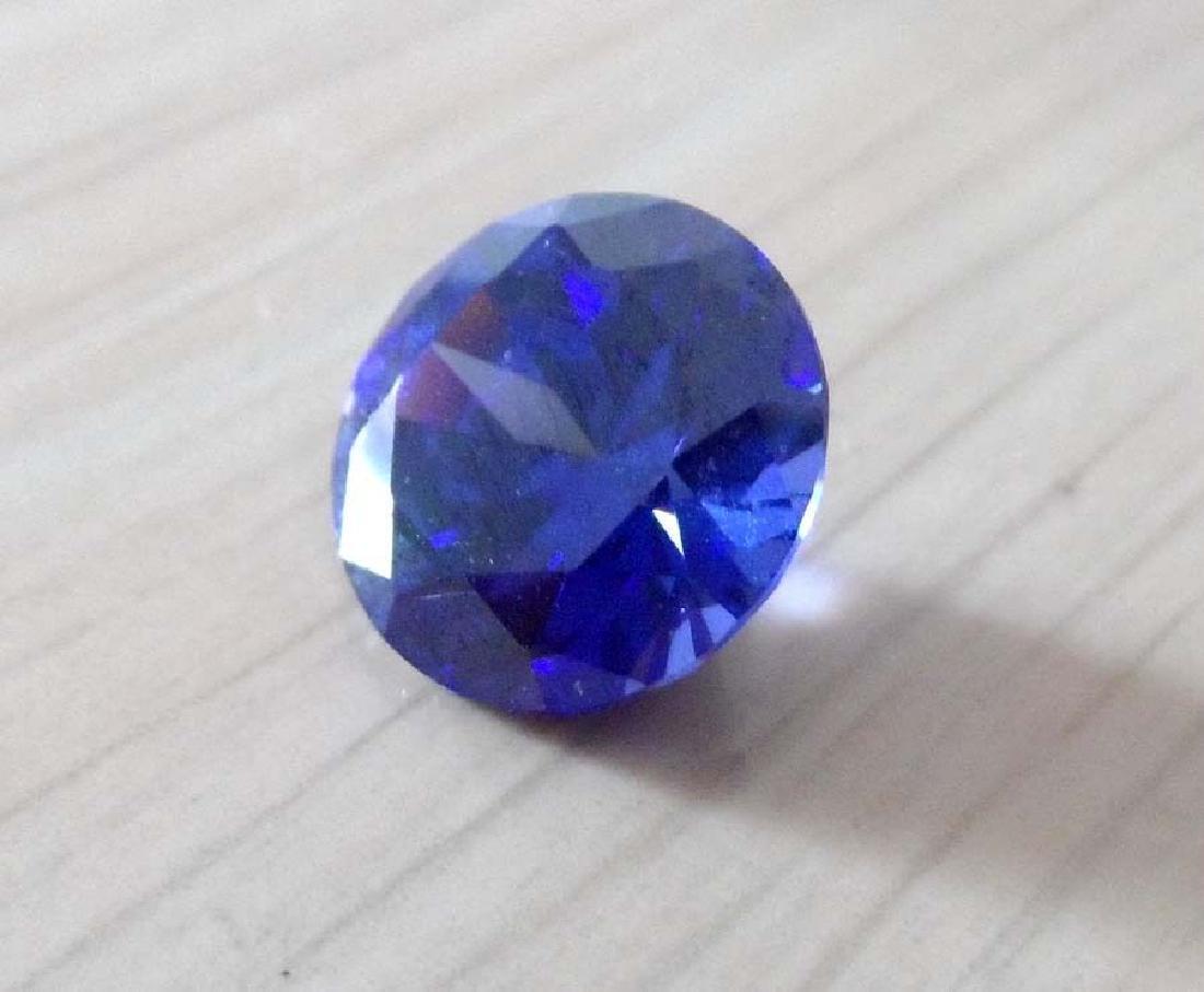 9.05ct Unheated Blue Sapphire Round cut - 4