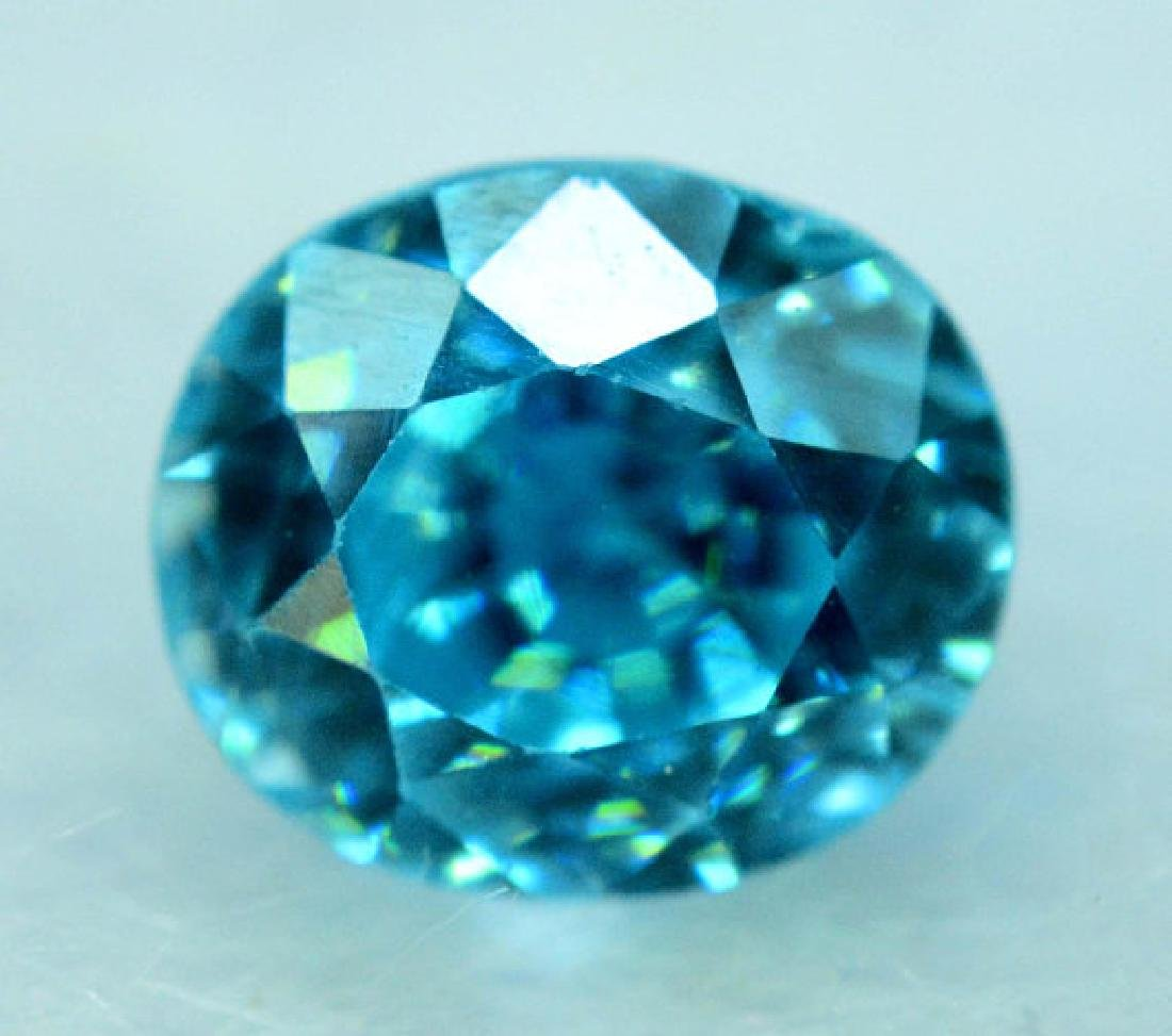 2.35 carats Blue Zircon Loose Gemstone from Cambodia -