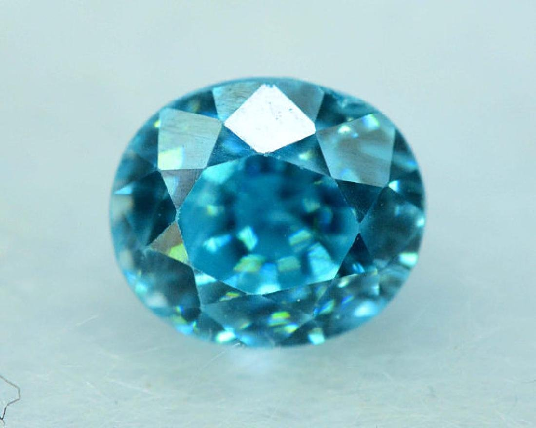 2.35 carats Blue Zircon Loose Gemstone from Cambodia - - 3