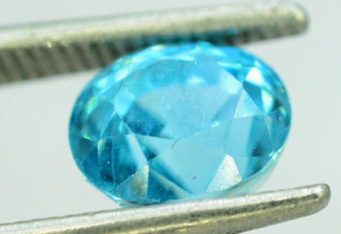 2.35 carats Blue Zircon Loose Gemstone from Cambodia - - 4