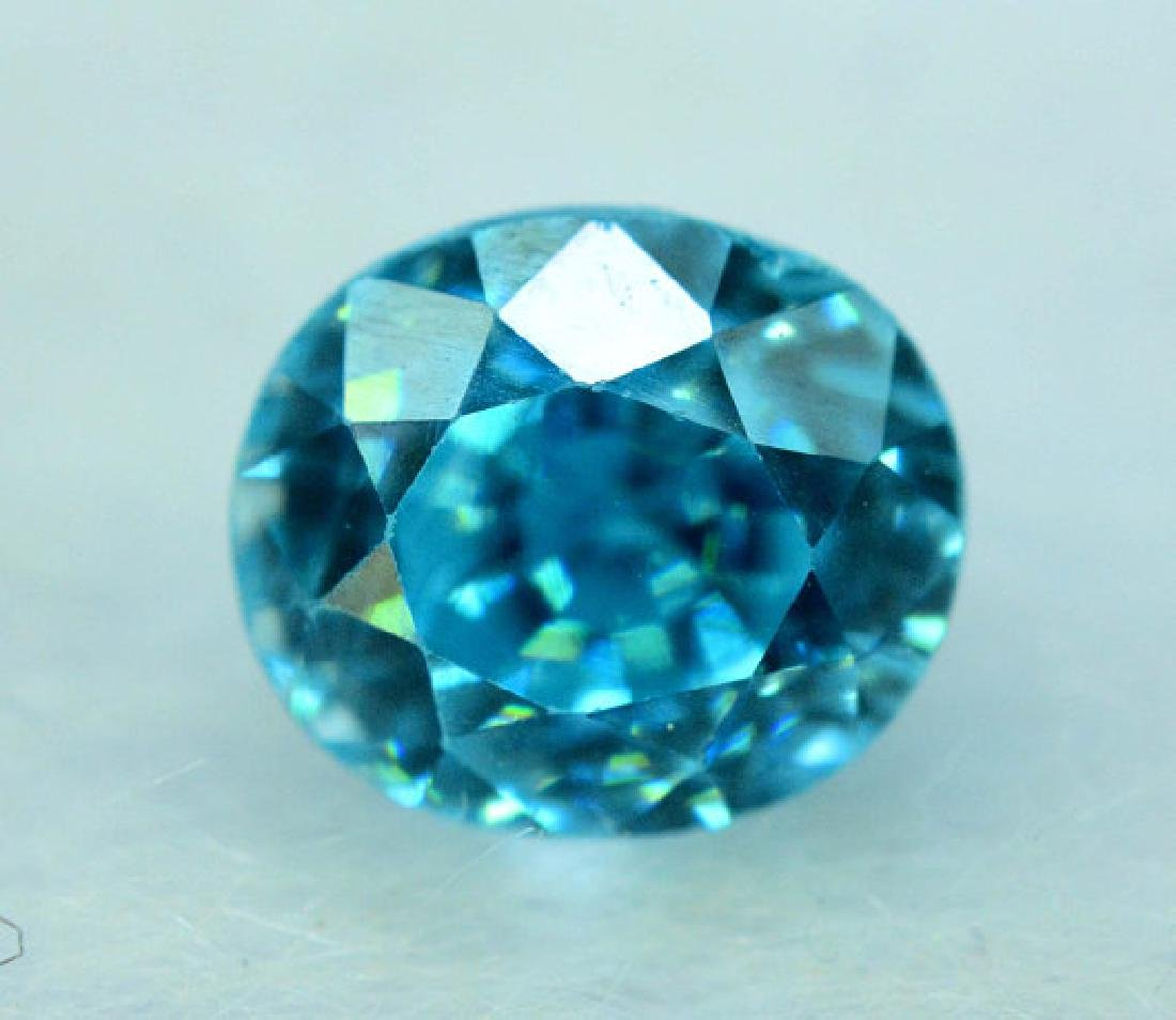 2.35 carats Blue Zircon Loose Gemstone from Cambodia - - 6