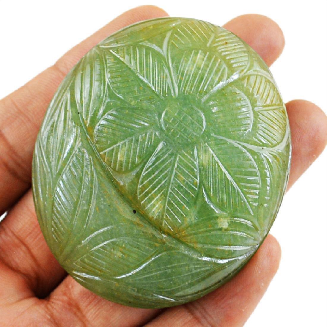 Aquamarine carved Gemstone - 2
