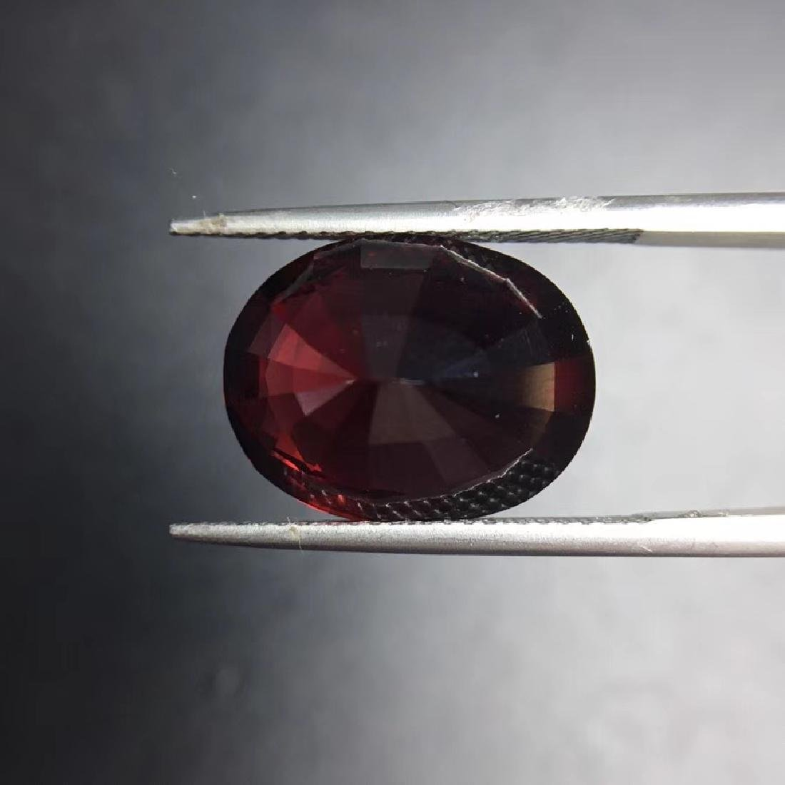 12.09 ct Garnet 12.0*15.4 mm Oval Cut - 4