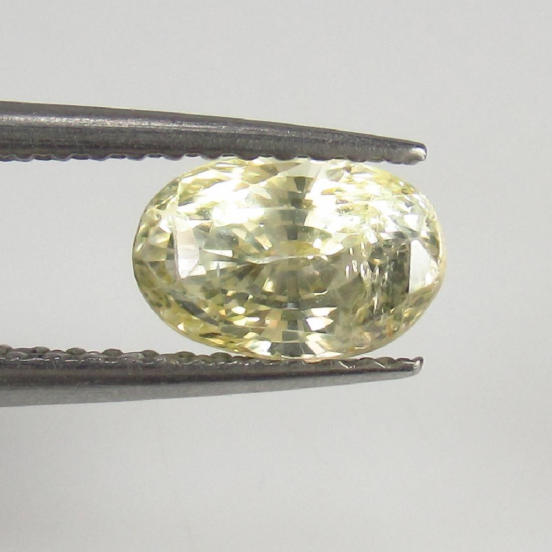 1.28 Ct Genuine IGI Certified Sri Lanka Yellow Sapphire - 4