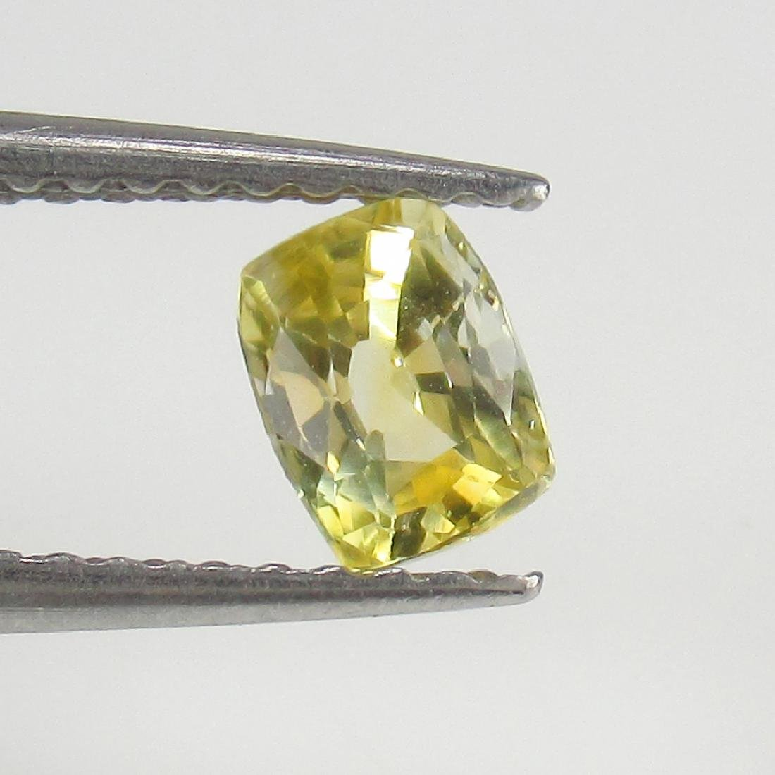 0.64 Ct Genuine IGI Certified Sri Lanka Yellow Sapphire - 4