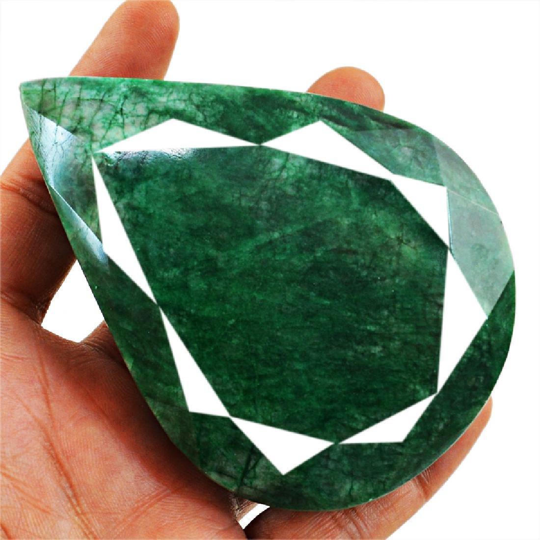 Emerald Pear Shape Faceted Gem - 2