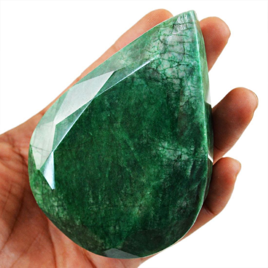 Emerald Pear Shape Faceted Gem - 4