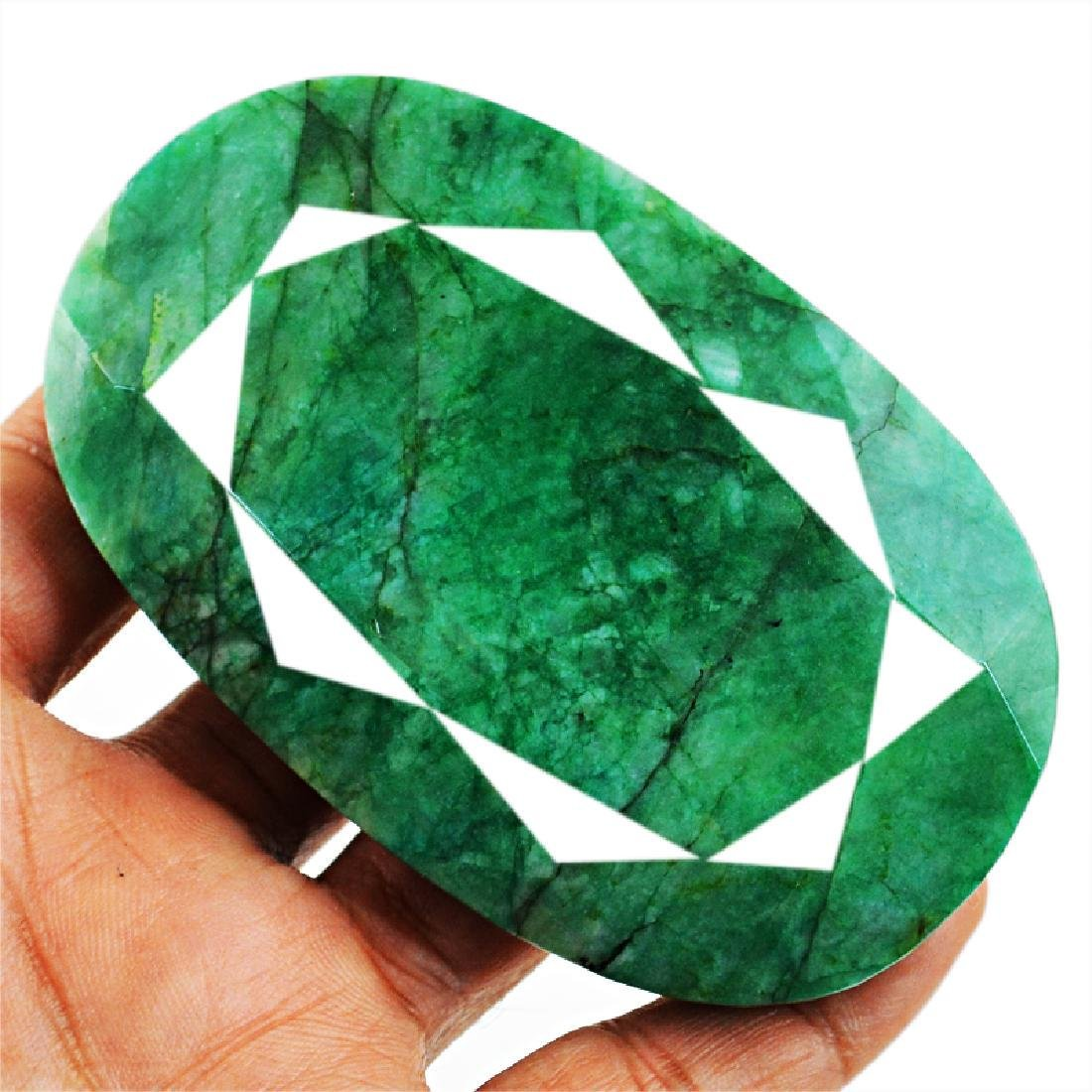 Faceted Emerald Oval Gemstone