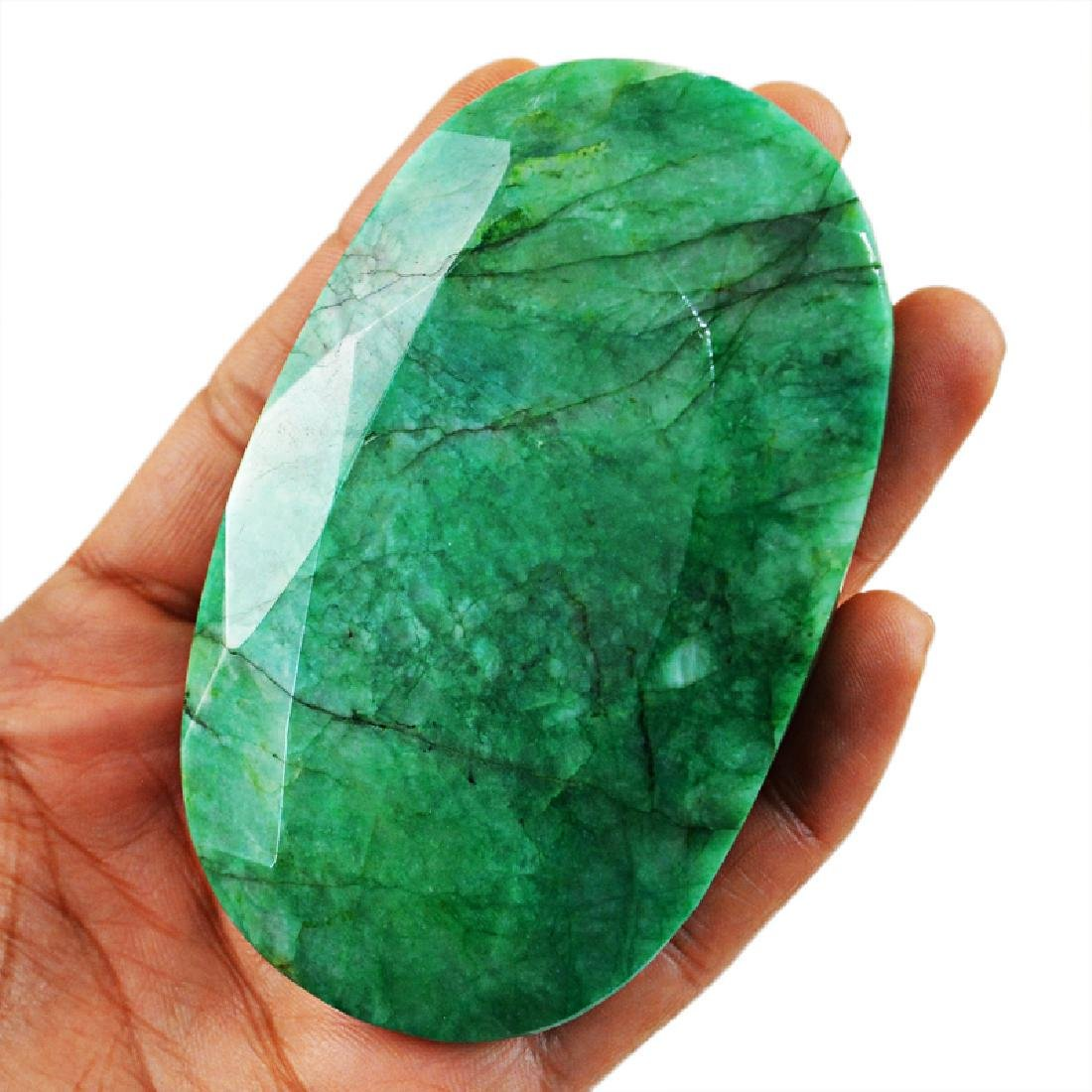 Faceted Emerald Oval Gemstone - 4