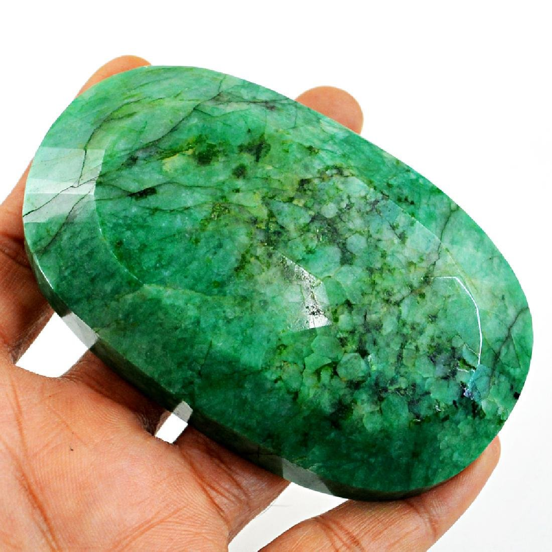 Faceted Emerald Oval Gemstone - 7