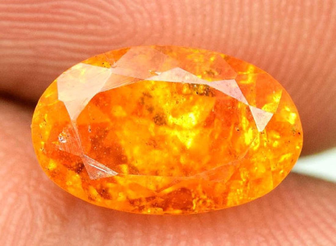 2.95 ct Fanta Color Natural Spessartite Garnet Gemstone - 4