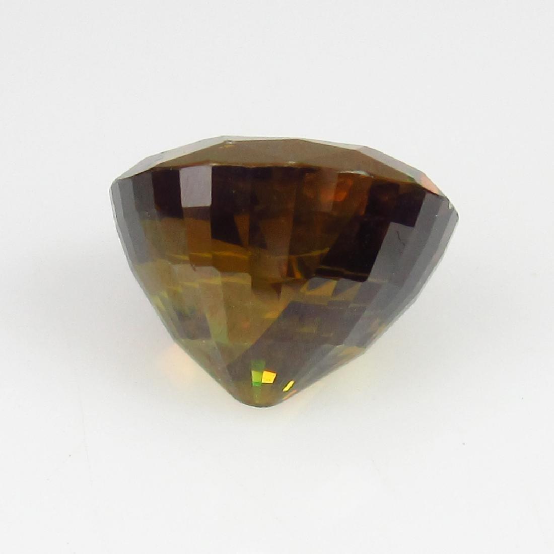 IGI Certified 3.38 Ct - Natural Loose Greenish Brown - 4