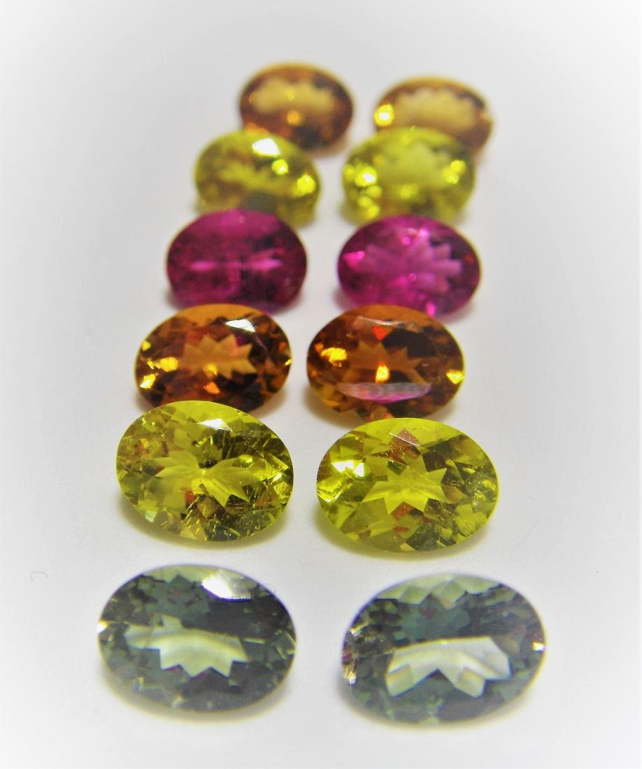 Multi color Tourmalines 12pcs-14.25 ct