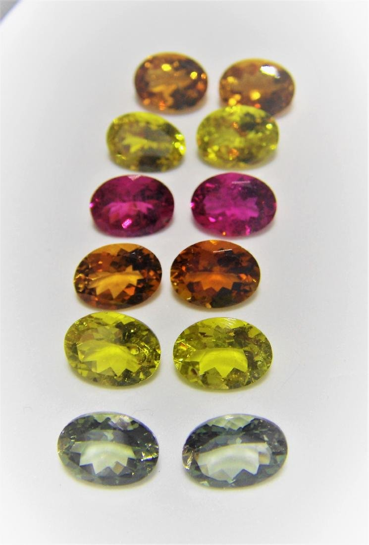 Multi color Tourmalines 12pcs-14.25 ct - 2