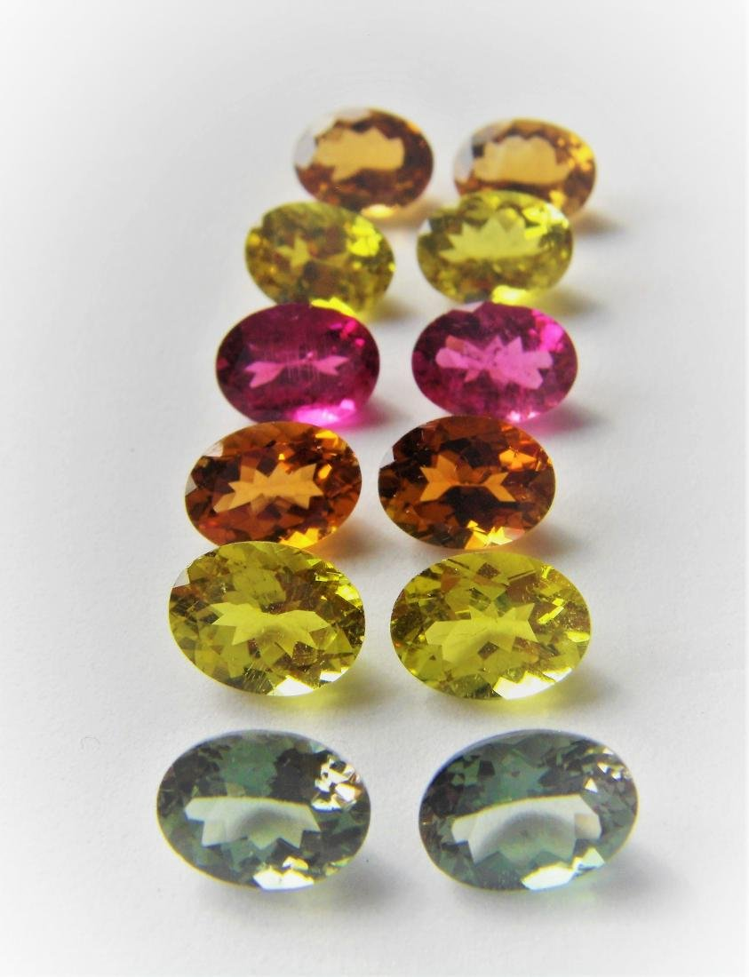 Multi color Tourmalines 12pcs-14.25 ct - 3