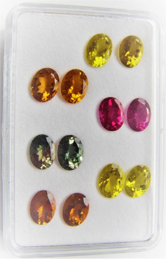 Multi color Tourmalines 12pcs-14.25 ct - 4