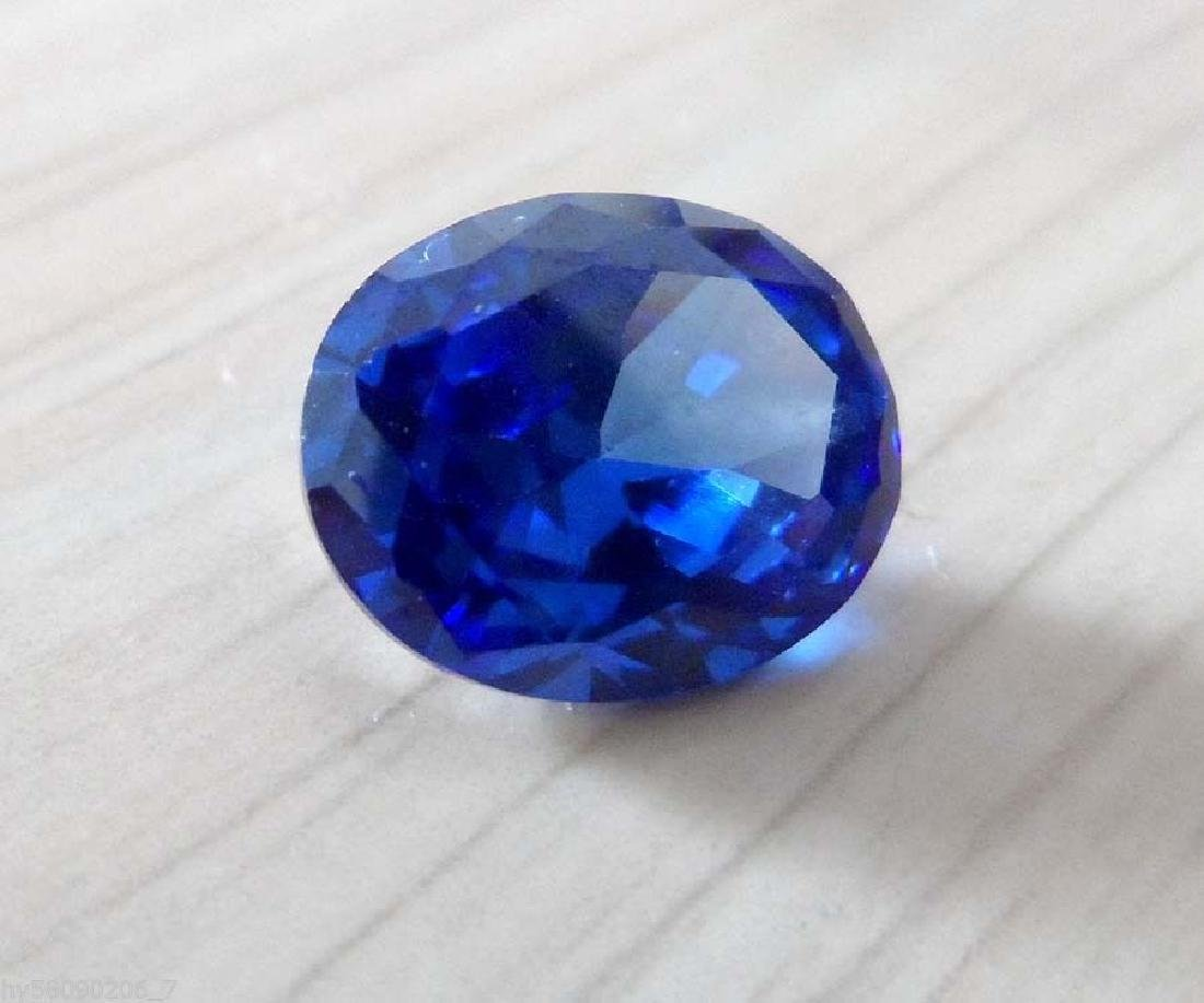 8.02ct Unheated Swiss Blue Sapphire Oval Faceted Cut