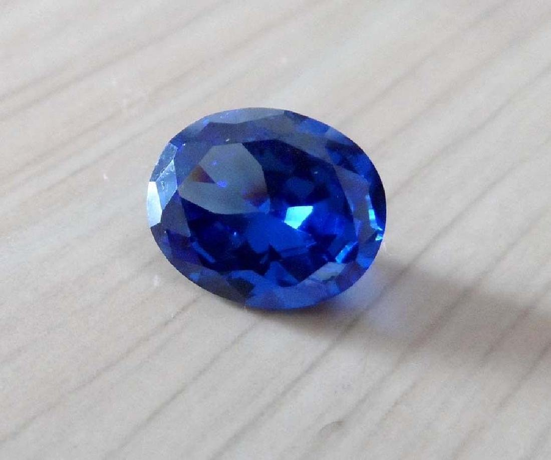 8.02ct Unheated Swiss Blue Sapphire Oval Faceted Cut - 2