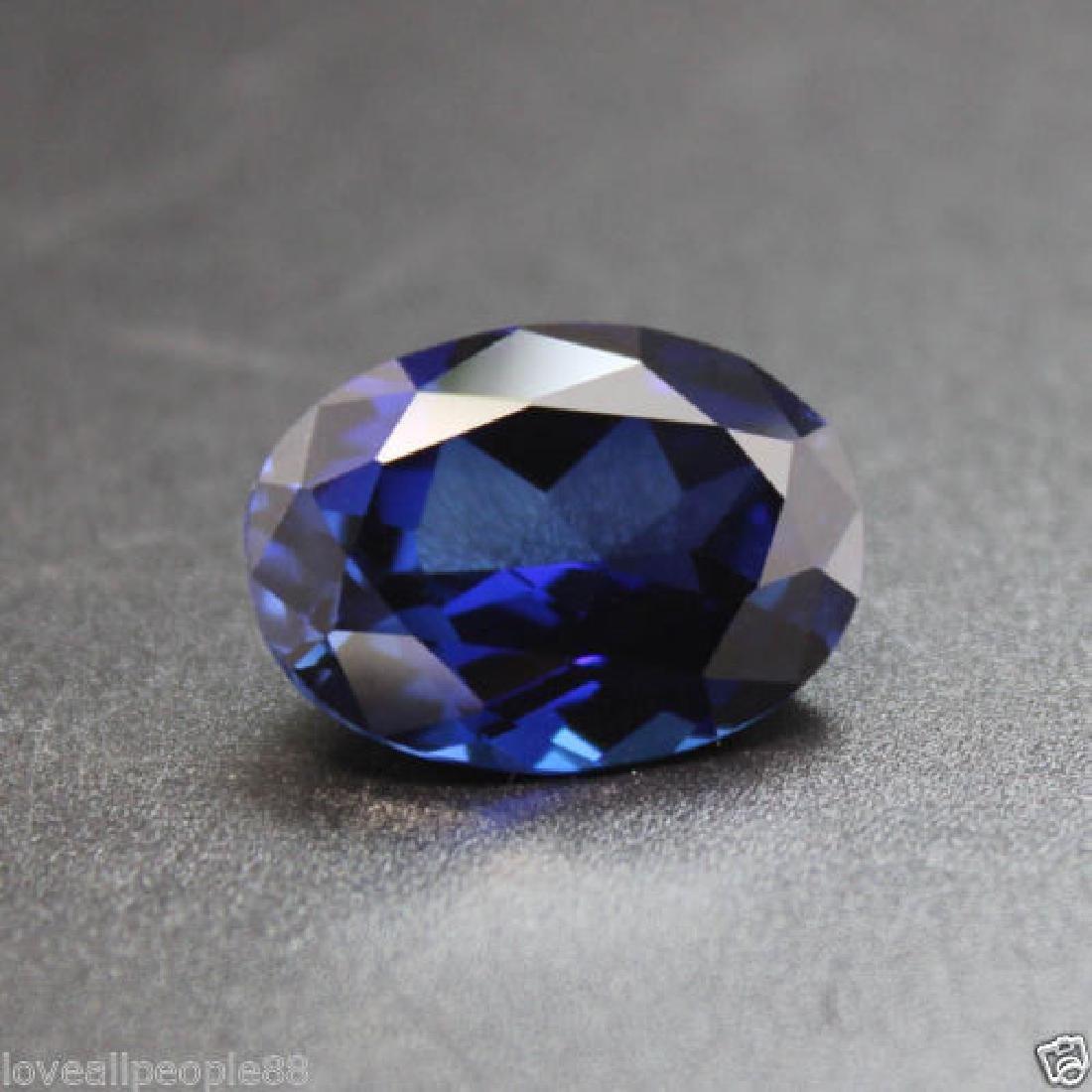 3.50 Cts Natural Blue Sapphire Oval Cut Sri-Lanka - 2