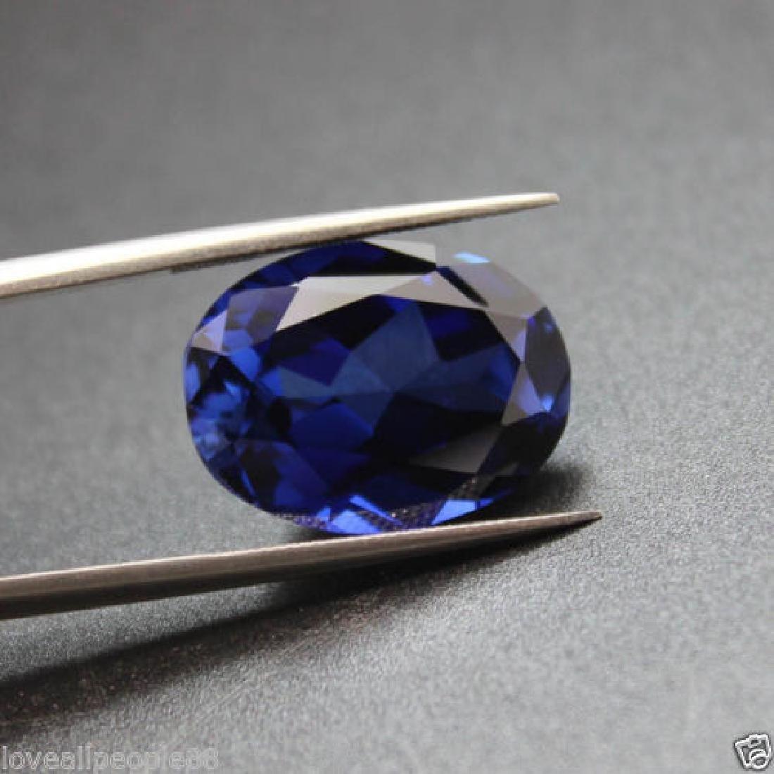 3.50 Cts Natural Blue Sapphire Oval Cut Sri-Lanka - 3