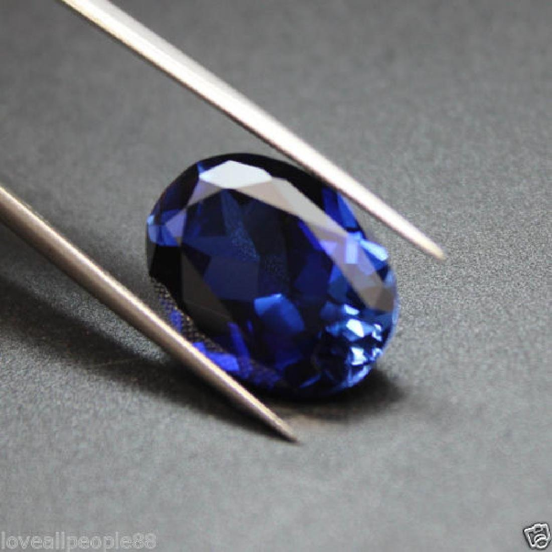 3.50 Cts Natural Blue Sapphire Oval Cut Sri-Lanka - 4
