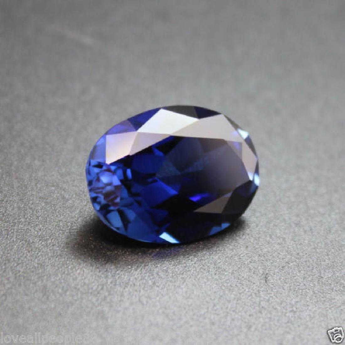 3.50 Cts Natural Blue Sapphire Oval Cut Sri-Lanka - 5