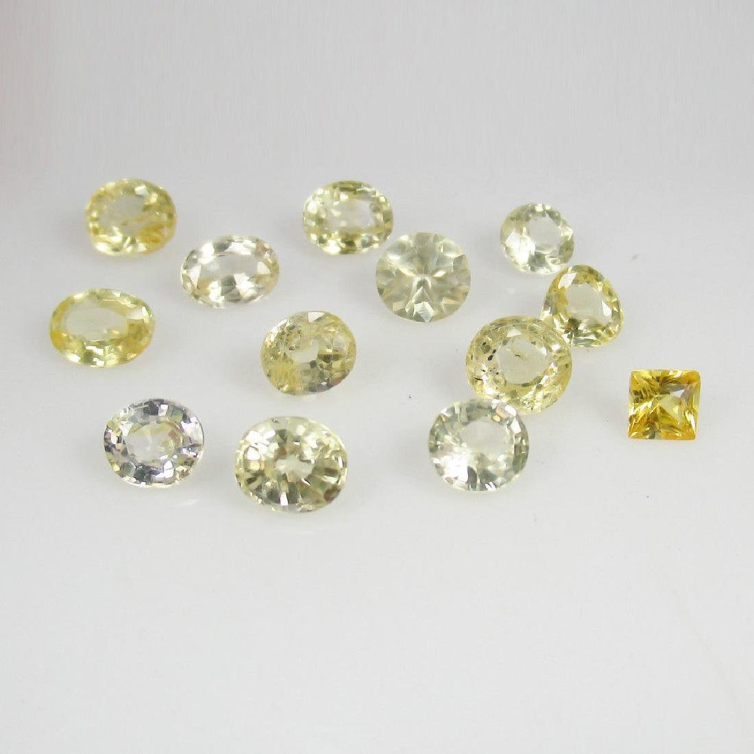 8.20 Ctw Natural Ceylon Yellow Sapphire Mixed Lot