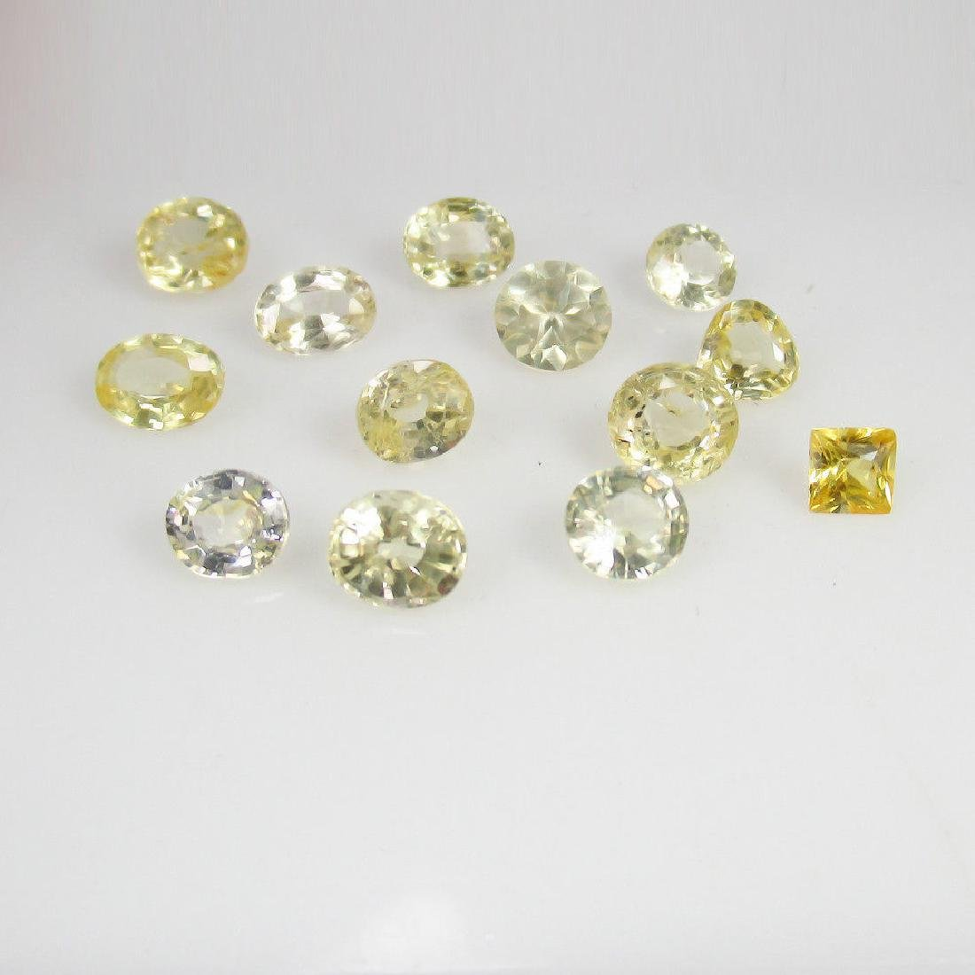 8.20 Ctw Natural Ceylon Yellow Sapphire Mixed Lot - 2
