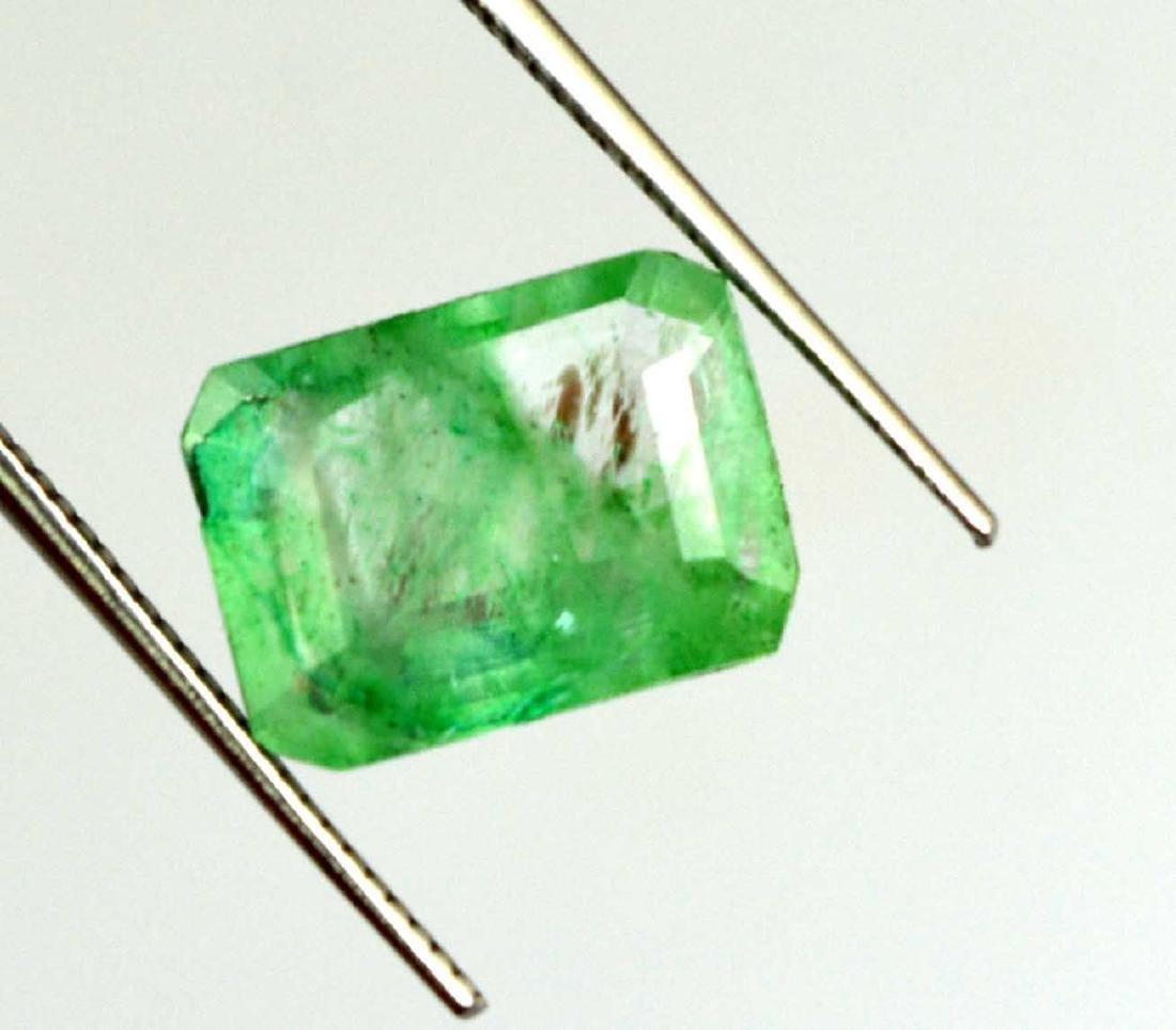 3.05 Ct Natural Zambian Emerald IGL Certified NO - 3