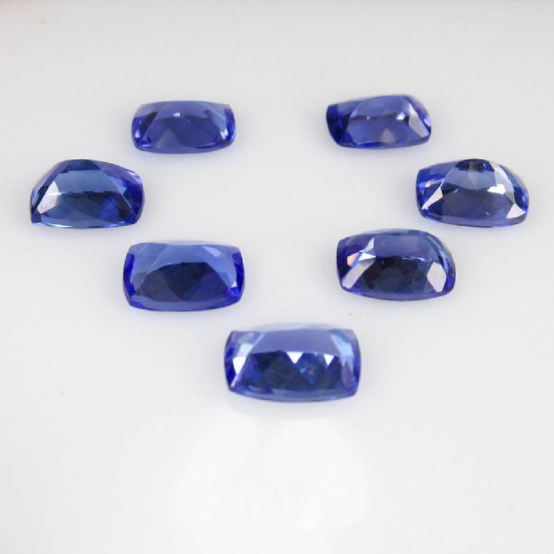 6.35 Ct Genuine IGI Certified 7 Loose Tanzanites - 2