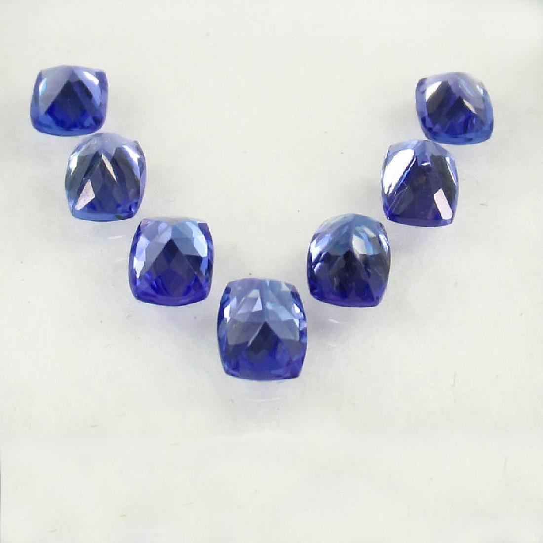 6.35 Ct Genuine IGI Certified 7 Loose Tanzanites - 3