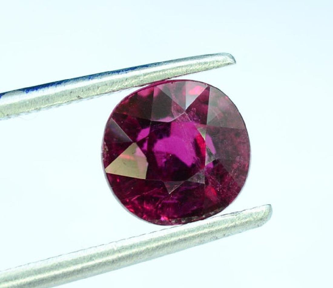2.20 cts Untreated Dark Red Rubelite Tourmaline - 3