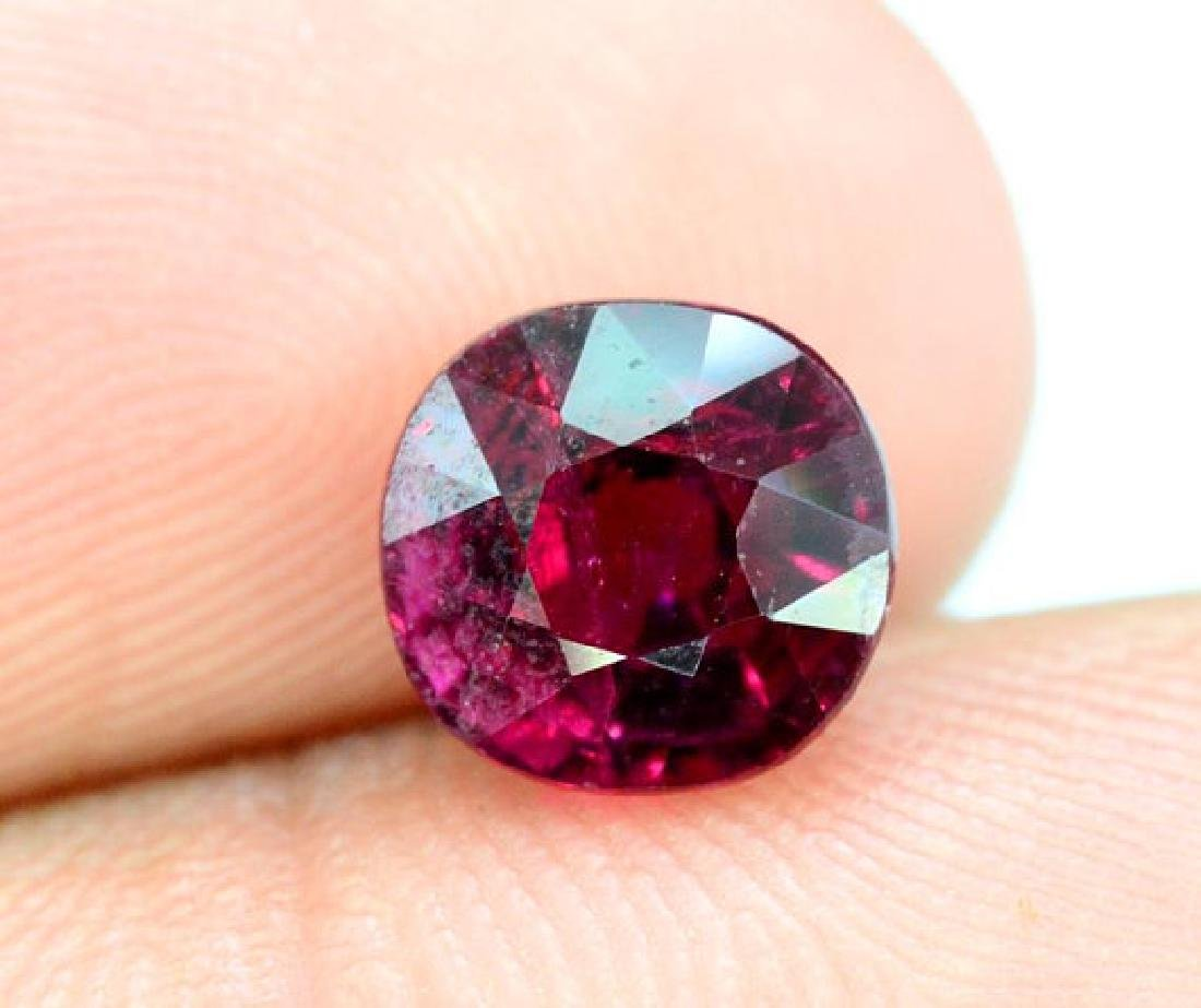 2.20 cts Untreated Dark Red Rubelite Tourmaline - 4