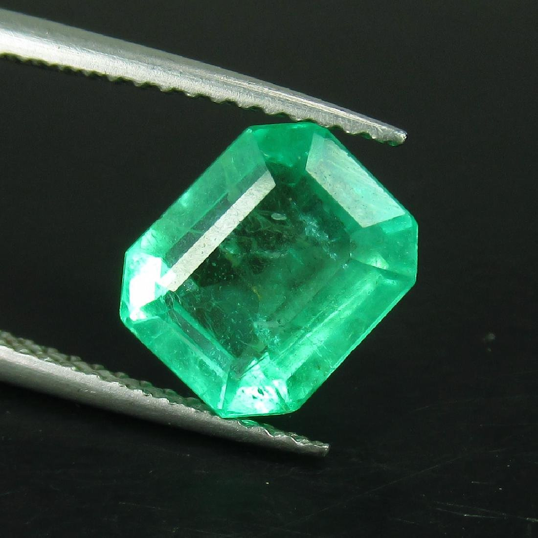GRS Certified 2.36 Ct Genuine Colombian Emerald Top