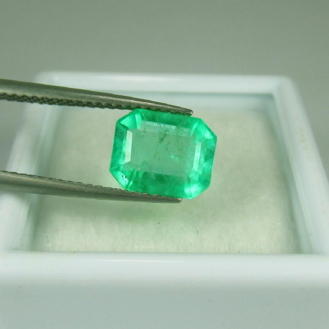GRS Certified 2.36 Ct Genuine Colombian Emerald Top - 4