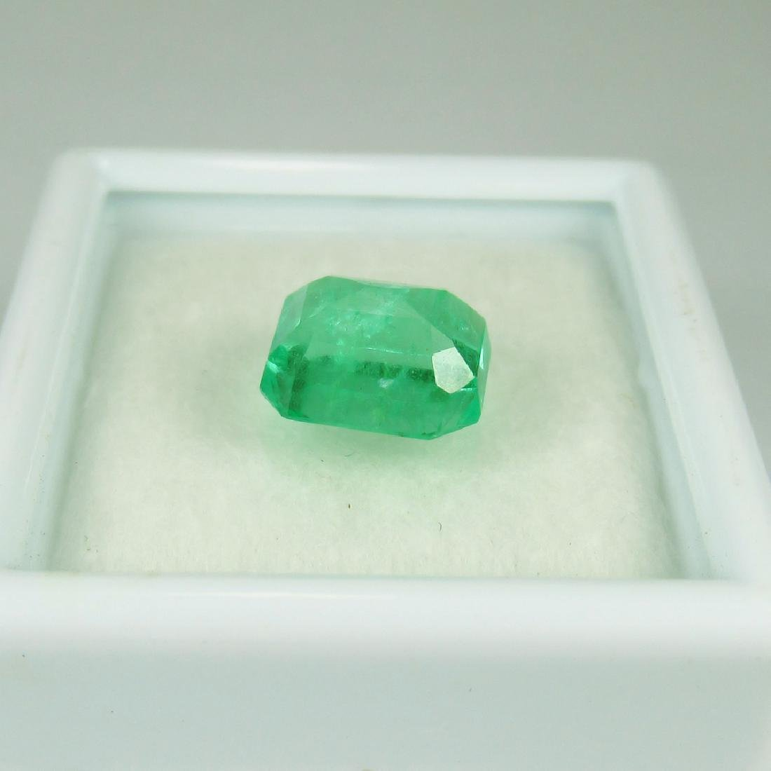 GRS Certified 2.36 Ct Genuine Colombian Emerald Top - 5