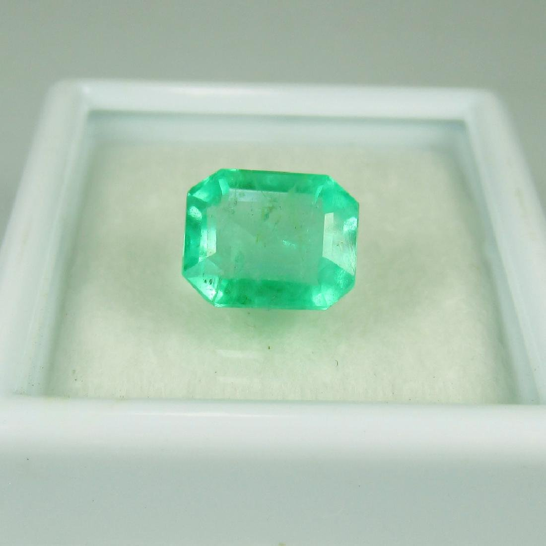 GRS Certified 2.36 Ct Genuine Colombian Emerald Top - 6
