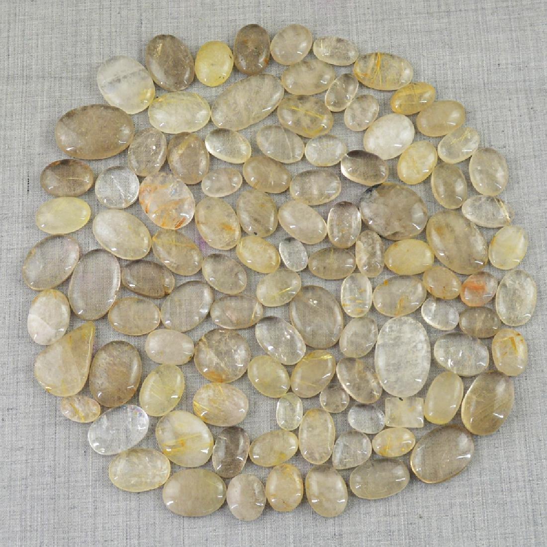 Golden Rutile Quartz Gemstones - 2