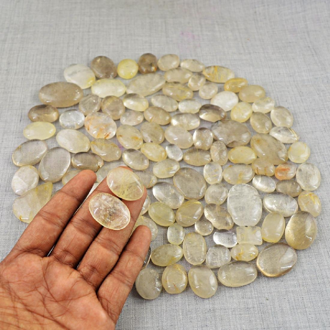 Golden Rutile Quartz Gemstones - 3
