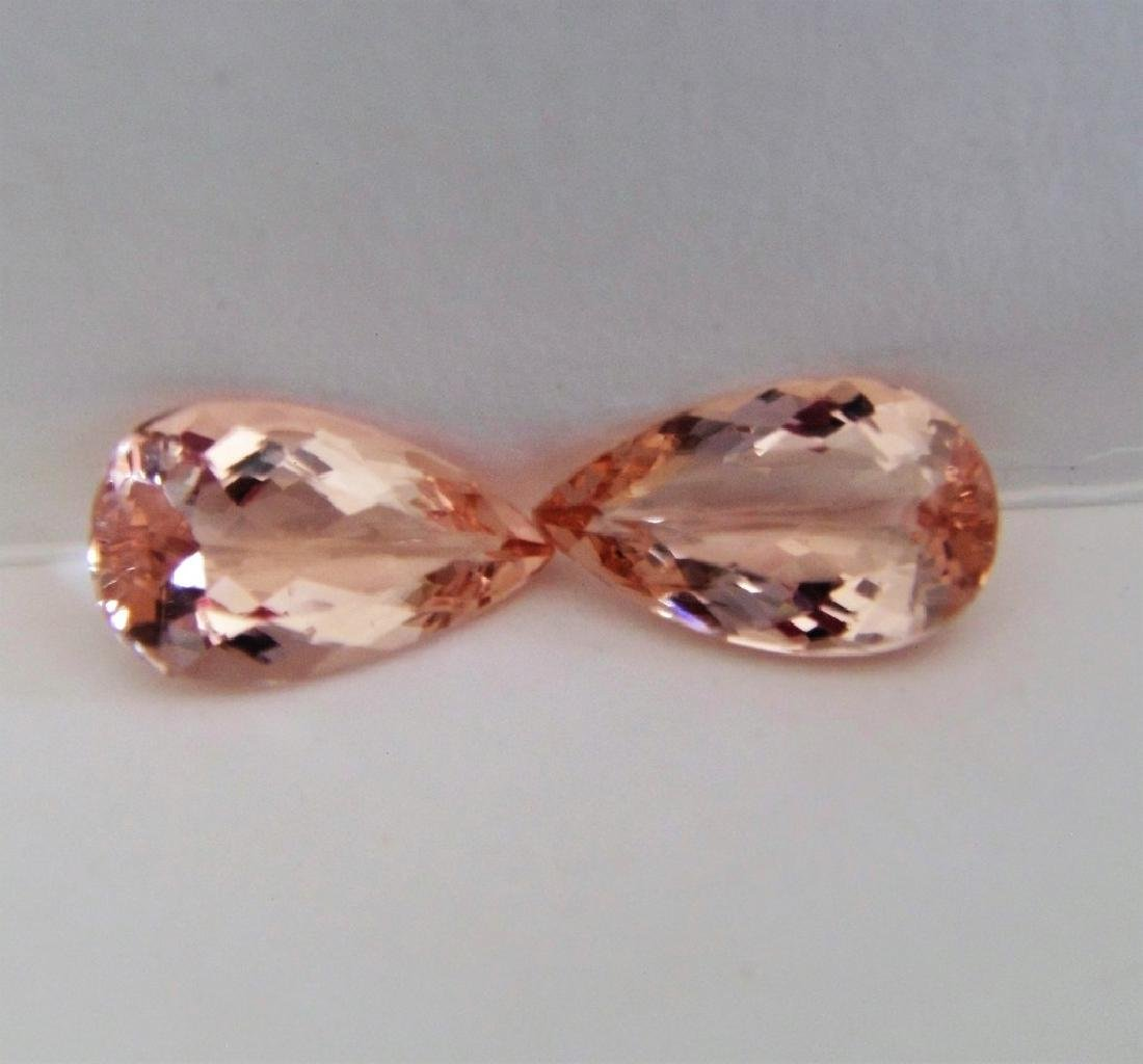 Morganite pair - 5.28 ct